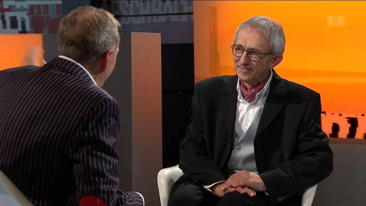 Niklas Raggenbass bei Kurt Aeschbacher in der Sendung.