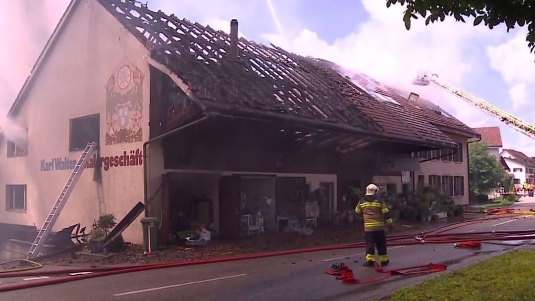 Bauernhaus-Brand zerstört Lebenswerk
