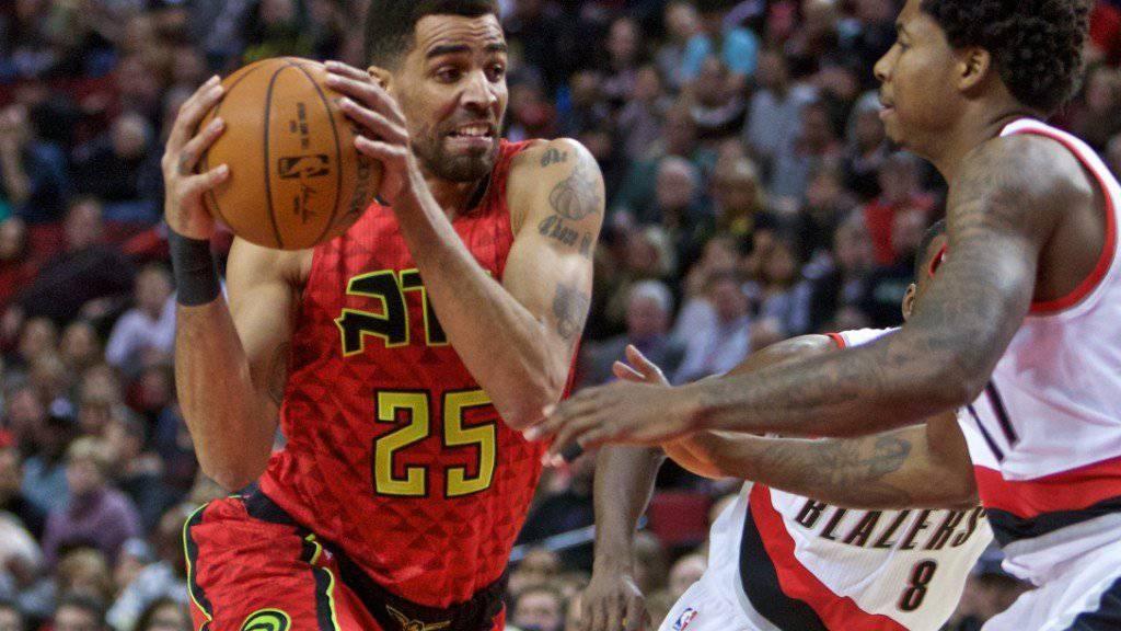 Atlantas Thabo Sefolosha (Nr. 25) verzeichnete gegen die Portland Trail Blazers vier Punkte und sechs Rebounds