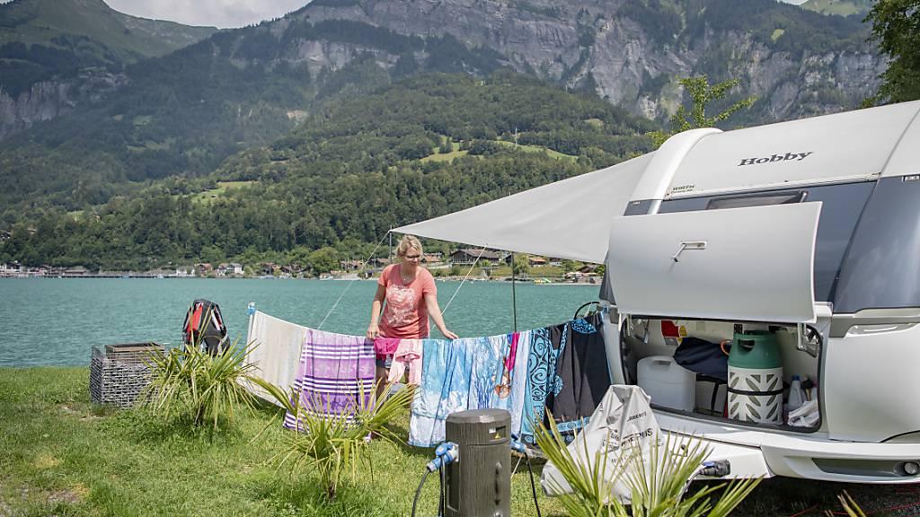 Zahlreiche Campingplätze verlängern Saison wegen grosser Nachfrage
