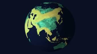 Die Ausbreitung des Homo sapiens über die Erde.