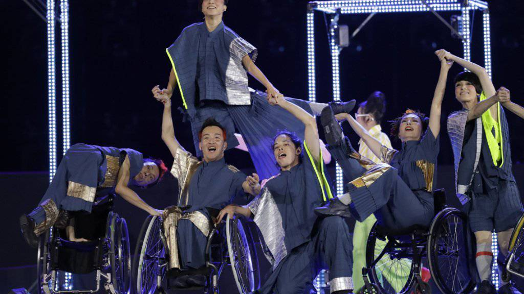 Abschied von Rio: Die Paralympics gehen in der brasilianischen Metropole mit einer grossen Show zu Ende.