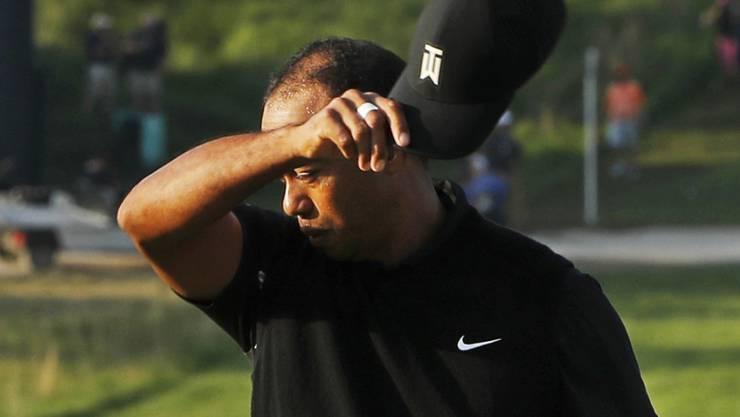 Ermüdet von der Runde, entmutigt vom Score: Für Tiger Woods ist die 101. US PGA Championship vorbei