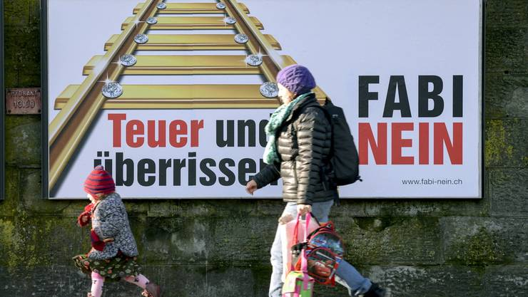 Die Konsumenten stellen sich gegen den Bahnausbau