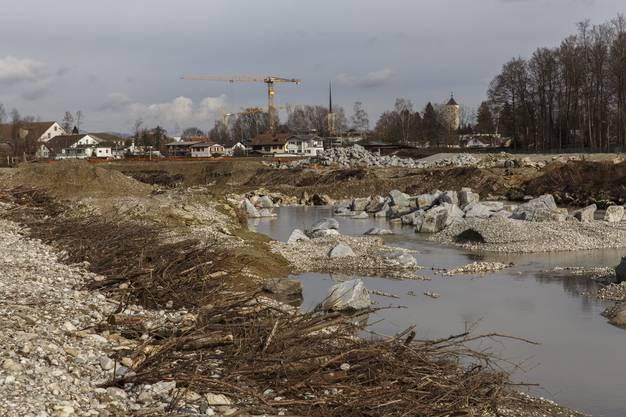 Die ehemaligen Deponie Schwarzweg wird zu einem Überflutungsgebiet.