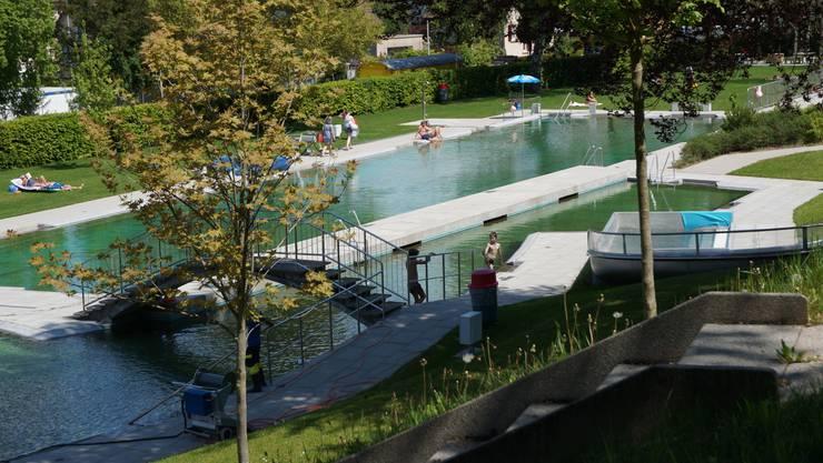 Das  totalsanierte Schwimmbad Im Moos wurde im Frühling 2011 in Betrieb  genommen. (Archiv)