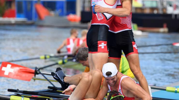 Eine Sternstunde im Leichtgewichtsrudern: Der Vierer holt in Rio souverän Olympiagold.