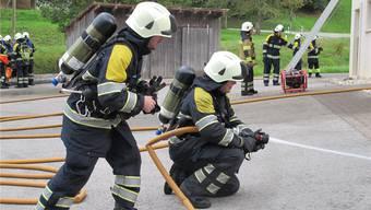 Die Feuerwehr Welschenrohr hatte bei der Hauptübung alles im Griff.