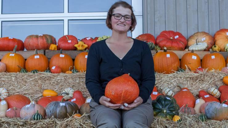 Landwirtin Ursula Siegrist (28) vom Bürgerheim Seengen zeigt sich zufrieden mit