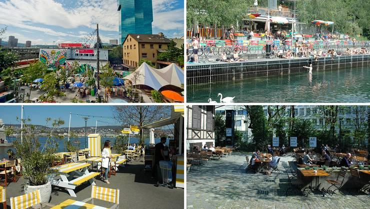 Der Sommer kann kommen: Das sind die schönsten Gartenbeizen Zürichs.