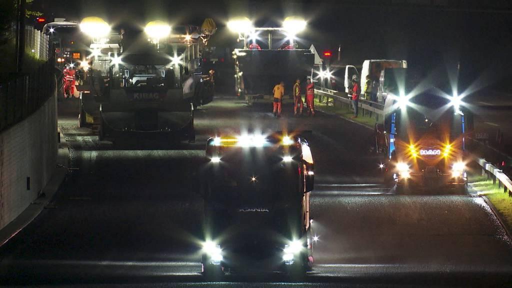 Stadtautobahn St.Gallen: Arbeiten bei Nacht