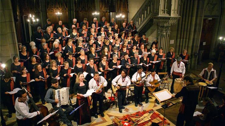 Die drei Chöre Joyful Voices, nuevo proyeto und Singkreis Wohlen traten am Wochenende gleich dreimal auf. zvg