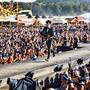 An diesem Wochenende beginnt am Argovia Fäscht im Aargau die Open-Air-Saison. Wie hier beim letztjährigen Konzert von Pegasus werden Zehntausende von Fans erwartet.
