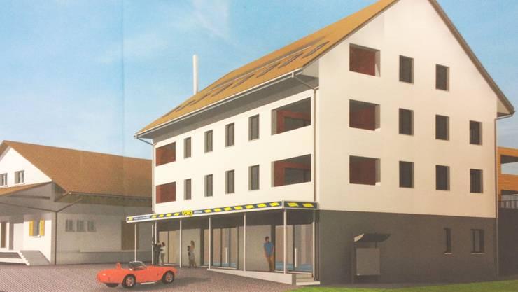 Der geplante Neubau mit dem Dorfladen in Wittnau