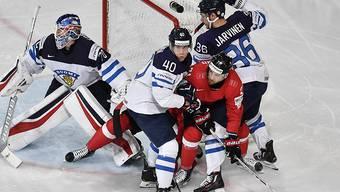 Im Mai spielte Tomi Sallinen (Nr. 40) mit Finnland an der WM in Paris gegen die Schweiz