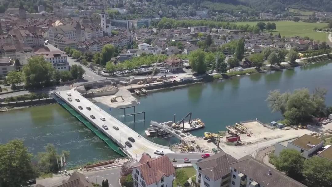 Die letzten Brocken der Kettenbrücke verschwinden