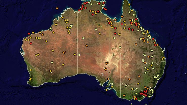 Ausserhalb von Melbourne wüten noch immer Buschbrände.