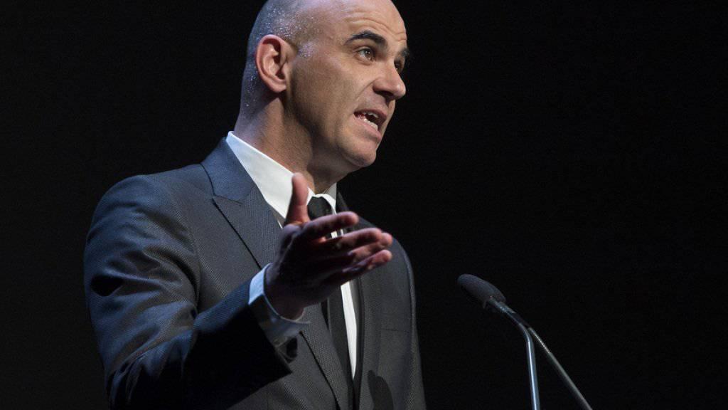 """""""Der Geist von Solothurn erobert die Alpen"""": Bundesrat Alain Berset eröffnet die 51. Solothurner Filmtage"""