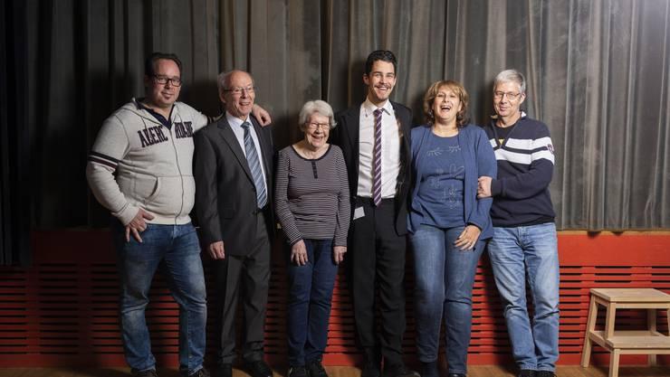 Familien vereint fürs Theater: Beat Riedle, Walter und Heidi Riedle, Benjamin Hof sowie Kristina und Franz Hof (von links).