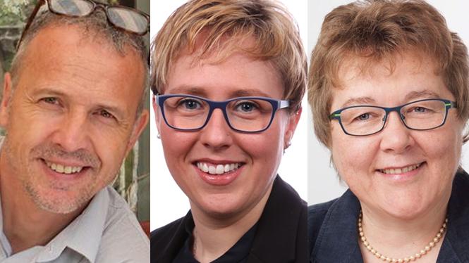 Von links: Bernhard Schmidt, Manuela Ehmann und Astrid Dätwyler.