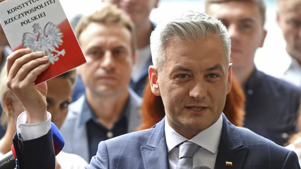 Robert Biedron startet in Polen eine politische Bewegung gegen die nationalkonservative Regierung von PiS-Chef Jaroslaw Kaczynski.