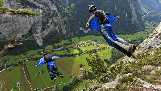 Basejumper im Berner Oberland (Symbolbild)