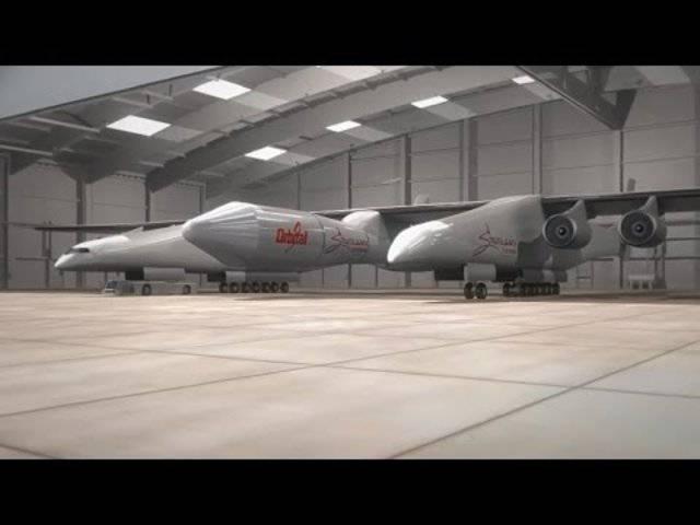 Diese Video-Animation zeigt, wie Stratolaunch funktionieren soll.
