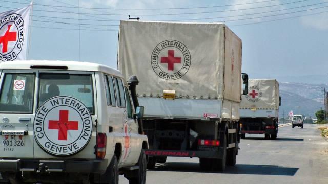 Ein Konvoi von Fahrzeugen des IKRK (Symbolbild)