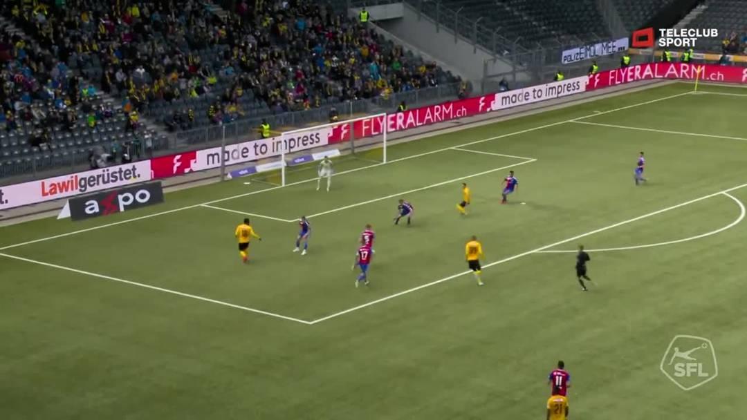Super League, 2018/19, 33. Runde, YB - FC Basel, 45. Minute: Schuss von Thorsten Schick.
