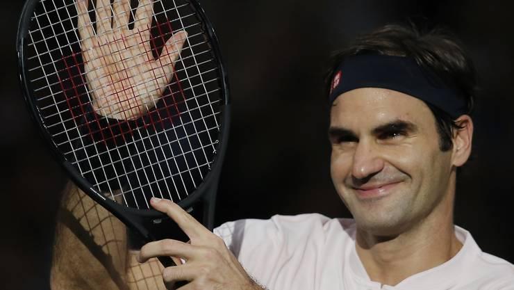 Nach einem Steigerungslauf gewinnt Roger Federer 6:4, 6:3 gegen Fabio Fognini.