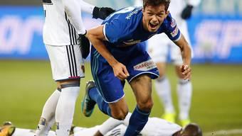 Trotz der Führung durch Shkelqim Demhasaj musste Luzern am Ende eine 1:4-Niederlage gegen Basel hinnehmen