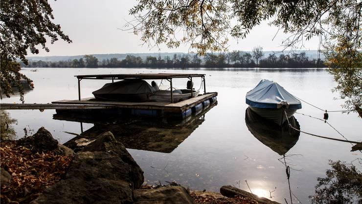 Bootsplätze beim «Sängli» in Altreu, Selzach, die aufgehoben werden könnten.