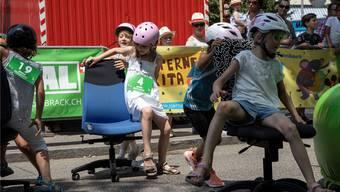 Bürostuhlrennen Kids