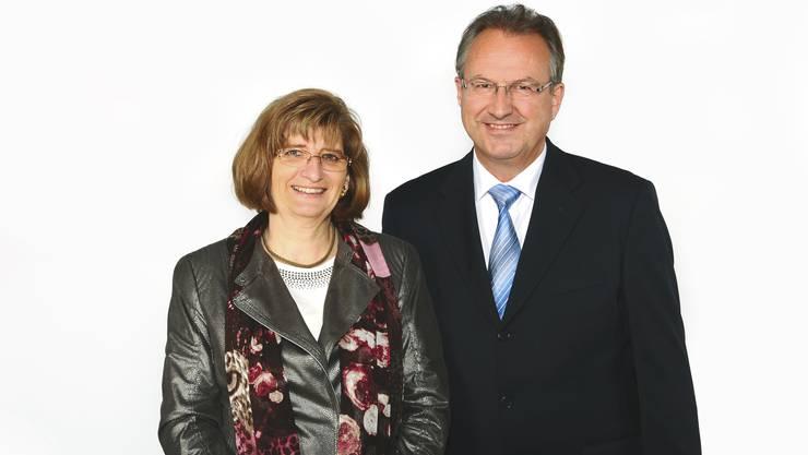Das Spitzenduo der EVP Bezirk Dietikon für die Kantonsratswahlen vom April 2015: Christiane Ilg-Lutz und Kurt Leuch