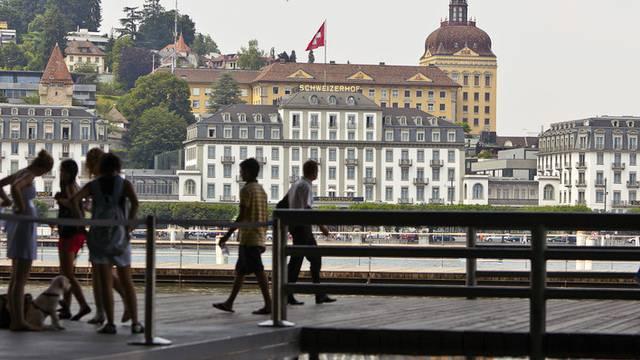 Im Schweizerhof in Luzern findet das Lucerne Blues Festival statt (Archiv)