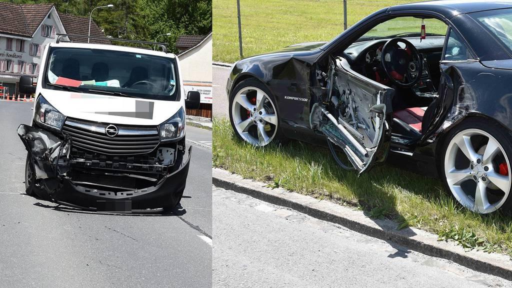 Die beiden beteiligten Fahrzeuge