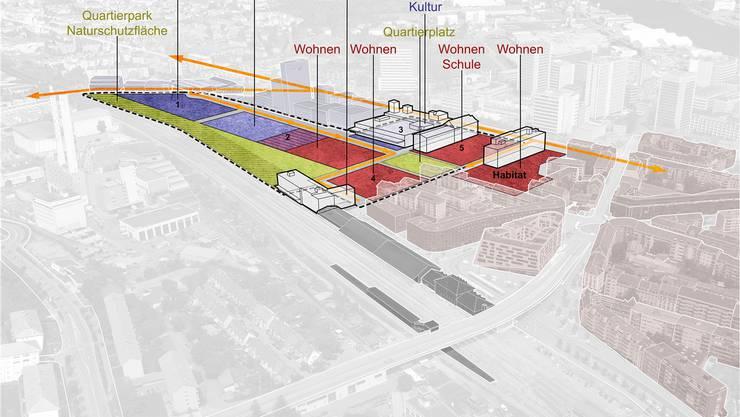 Die Regierung plant auf dem Lysbüchel-Areal eine Mischnutzung aus Wohnen, Gewerbe und Industrie. zvg