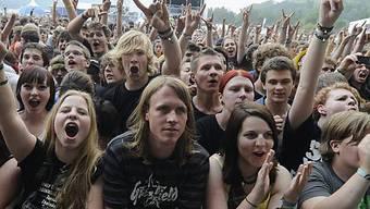 Gedränge am Greenfield-Festival in Interlaken