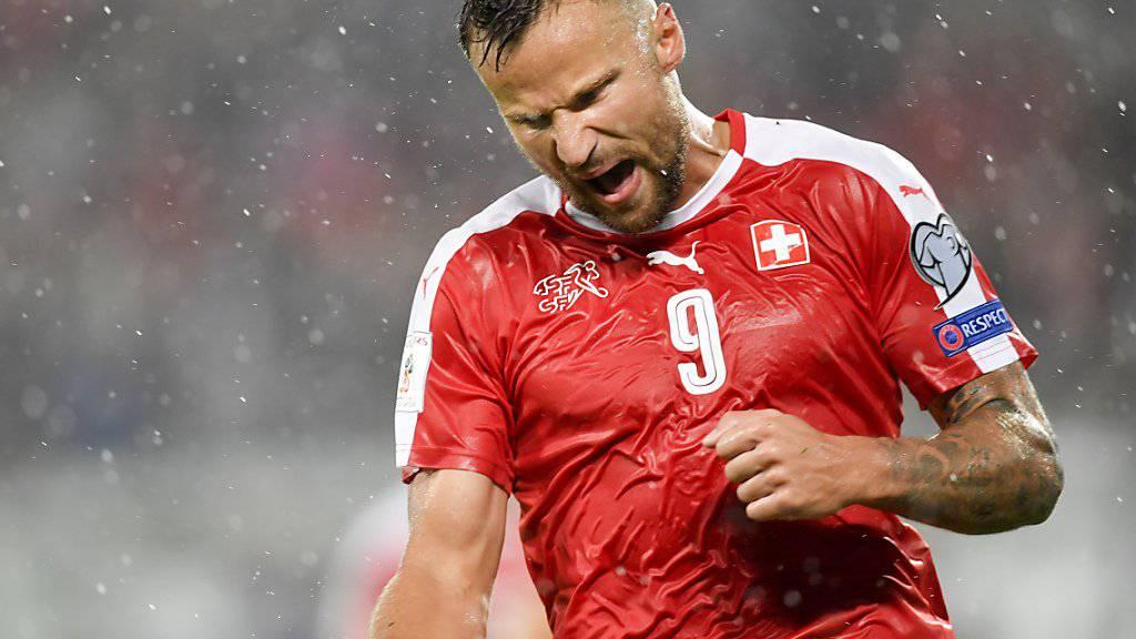 Traf im St. Galler Dauerregen in der WM-Qualifikation gegen Andorra zweimal: Haris Seferovic