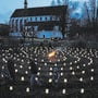 Früher wurde das Lichterlabyrinth in Königsfelden organisiert.