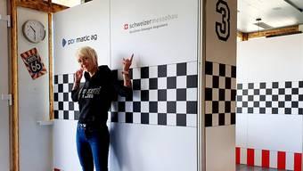 Tamara Häfliger, stellvertretende Geschäftsführerin Restaurant Kartbahn Wohlen in der neuen gastronomischen Boxengasse.
