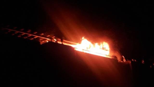 Brand wegen Silvesterfeuerwerk