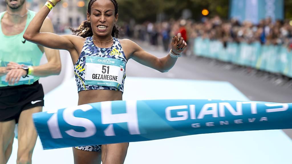Kalkidan Gezahegne läuft in Genf 10-km-Rekord auf der Strasse