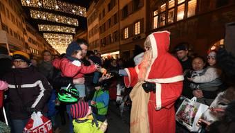 Weihnachtsbeleuchtung im Liestaler Stedtli