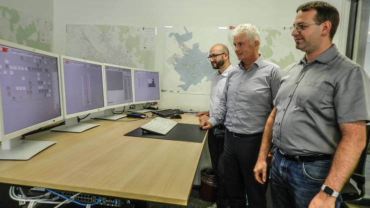 Giovanni Romeo, Geschäftsleiter IBW Technik, CEO Peter Lehmann und Energieberater Patrick Gisi.