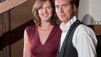 Trauung in der Schweiz:  Annika Leis (33) und Dani Baumann (30) aus Edinburgh.