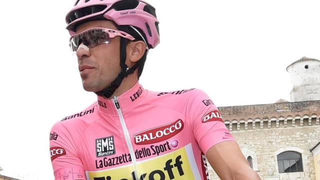 Weiterhin in der Maglia rosa: Alberto Contador