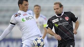 Guillaume Katz (links) im Zweikampf mit Mauro Lustrinelli