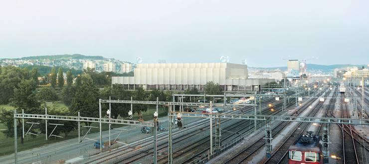 So soll die neue Eishockeyarena in Zürich-Altstetten dereinst aussehen.