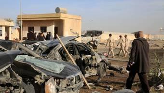 """Chaos in Libyen: Die Terrormiliz """"Islamischer Staat"""" nutzt das politische Vakuum im Land - die USA fassen einen Einsatz gegen die Gruppe ins Auge. (Archiv)"""